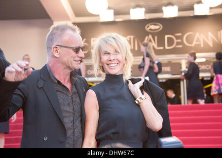 Sting and his wife Trudie Styler,  'Mud' premiere during the 65th Annual Cannes Film Festival. Cannes, France - 26.05.12 - Stock Image