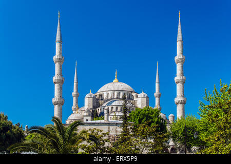 Sultan Ahmed Mosque or Blue Mosque, Sultanahmet, Istanbul, Turkey - Stock Image
