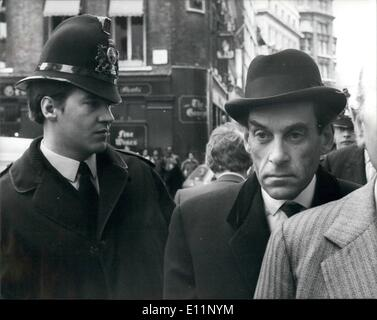 May 05, 1979 - Jeremy Thorpe arrives at the Old Bailey: Arriving at the Central Criminal Court (Old Bailey) for - Stock Image