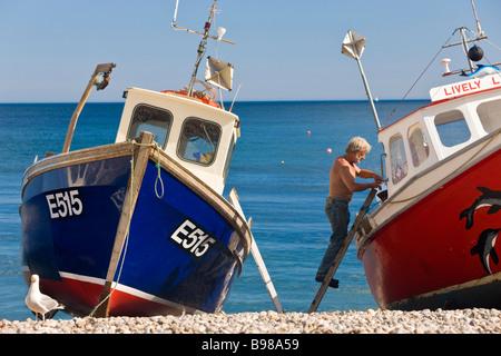 Bateaux de pêche bière devon uk - Image