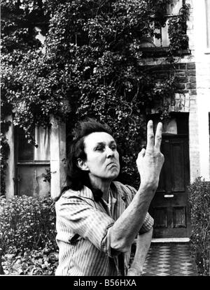 Animal lover Miss Margaret Williiams outside her house in Richards Street Cathays were she lives with her dogs and - Stock Image