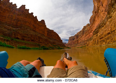 Cove Canyon, Colorado River, Glen Canyon National Recreation Area, Utah USA - Stock Image