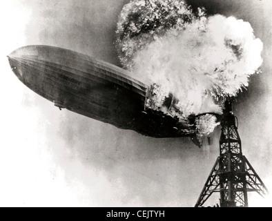 Hindenburg disaster - Stock Image