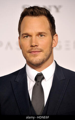 Westwood, USA. 14th Dec, 2016. Chris Pratt at the Los Angeles premiere of 'Passengers' held at the Regency - Stock Image