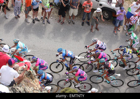 01.JULY.2013. CORSICA  THE TOUR DE FRANCE ARRIVES IN CALVI, CORSICA, FOR THE THIRD STEP OF THE FAMOUS CYCLING RACE, - Stock Image