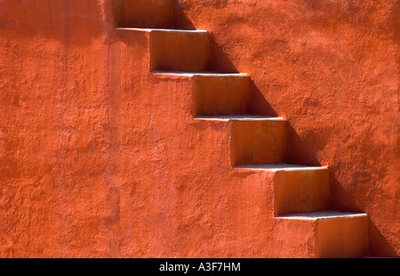 Steps on a building, Jantar Mantar, New Delhi, India - Stock Image