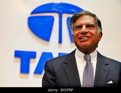 Ratan N. Tata during the 79th International Motor Show in Geneve, Tuesday, March 3, 2009.  (CTK Photo/Rene Fluger) - Stock Image