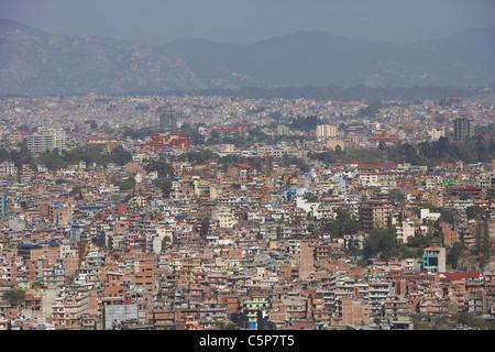 L'étalement urbain de Katmandou, Népal, Asie - Image