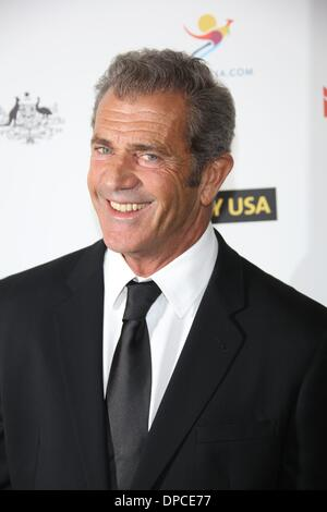 Los Angeles, USA. 11 January 2014.Actor Mel Gibson attends the 2014 G'Day USA Los Angeles black tie gala at JW Marriott Hotel at L.A. LIVE in Los Angeles, USA, on 11 January 2014. Credit:  dpa picture alliance/Alamy Live News - Stock Image