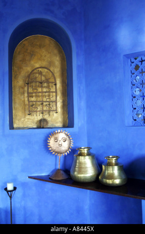 Detail of the reception area of the spectacularly designed Nilaya Hermitage boutique Hotel in Goa India - Stock Image