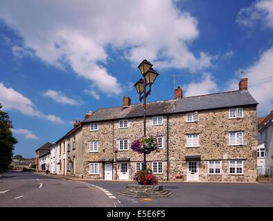 Maisons traditionnelles en pierre. Bière, South Devon, Royaume-Uni. - Image de l'éditeur
