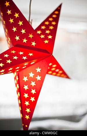 Close-up of Christmas star - Stock Image