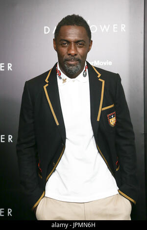 NEW YORK-JUL 31: Idris Elba attends 'The Dark Tower' special screening at the Museum of Modern Art on July 31, 2017 in New York City. - Stock Image