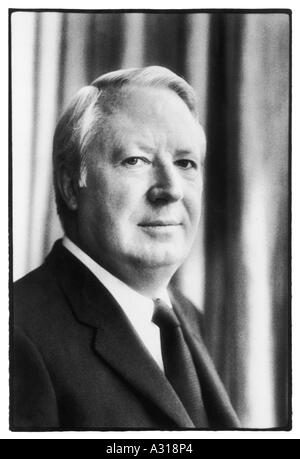Edward Heath Photograph - Stock Image
