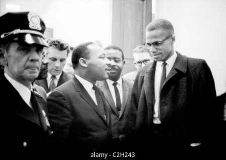 Martin Luther King and Malcolm X - Stock Image