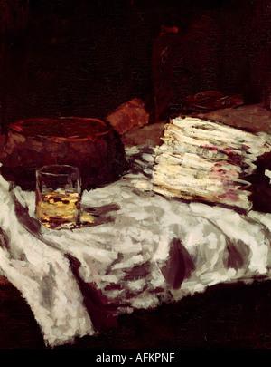 'fine arts, Schuch, Carl, (30.9.1846 - 13.9.1903), painting, 'Stillleben mit Spargel', circa 1885, oil on canvas, 63x79 cm, Ne - Stock Image