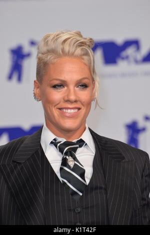 Los Angeles, USA. 27th Aug, 2017.  Pink at the 2017 MTV Video Music Awards at The 'Fabulous' Forum Picture Credit: Sarah Stewart/Alamy Live News - Stock Image