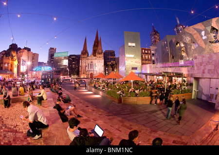 Federation square, Melbourne - Stock Image
