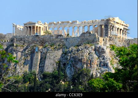 The Parthenon Acropolis Athens Greece Kallikrates Iktinos Athena - Stock Image