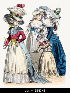 Late18th century XVIII 1700s French  Gentry - Stock Image