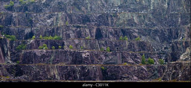 LLanberis Slate Quarry near Llanberis, Gwynedd, Wales - Stock Image