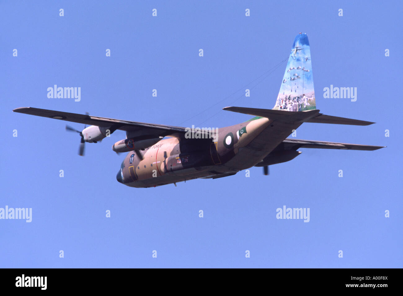 Lockheed C-130B Hercules operated by the Pakistani Air Force departing RAF Fairford - Stock Image