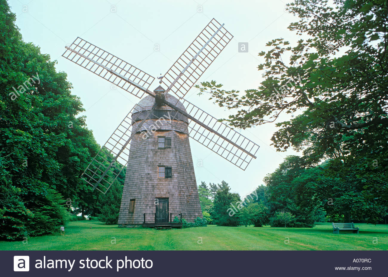 Beebe windmill on Long Island at Bridgehampton in the State of New York USAStock Photo
