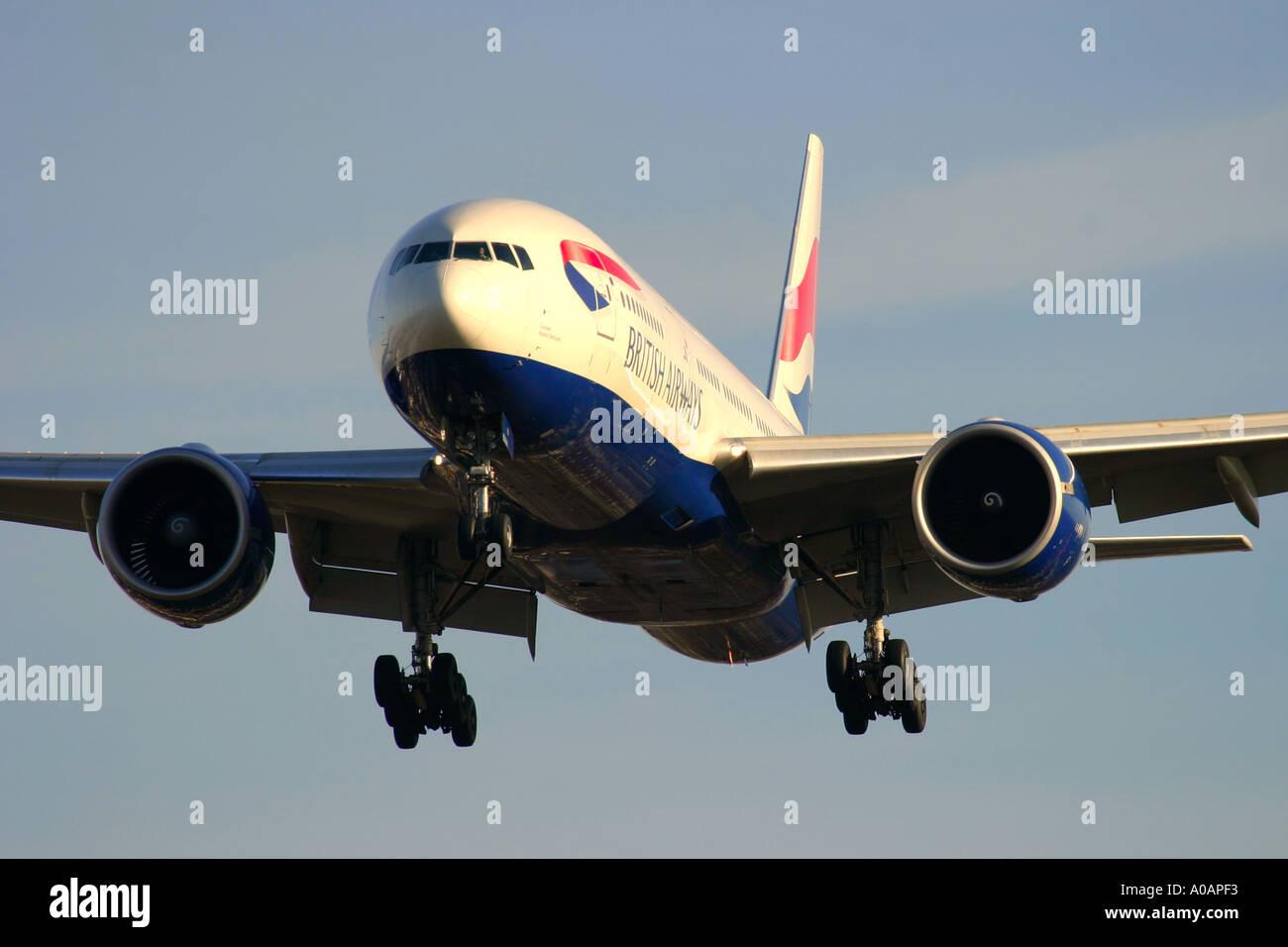 Boeing 777 200 British Airways - Stock Image
