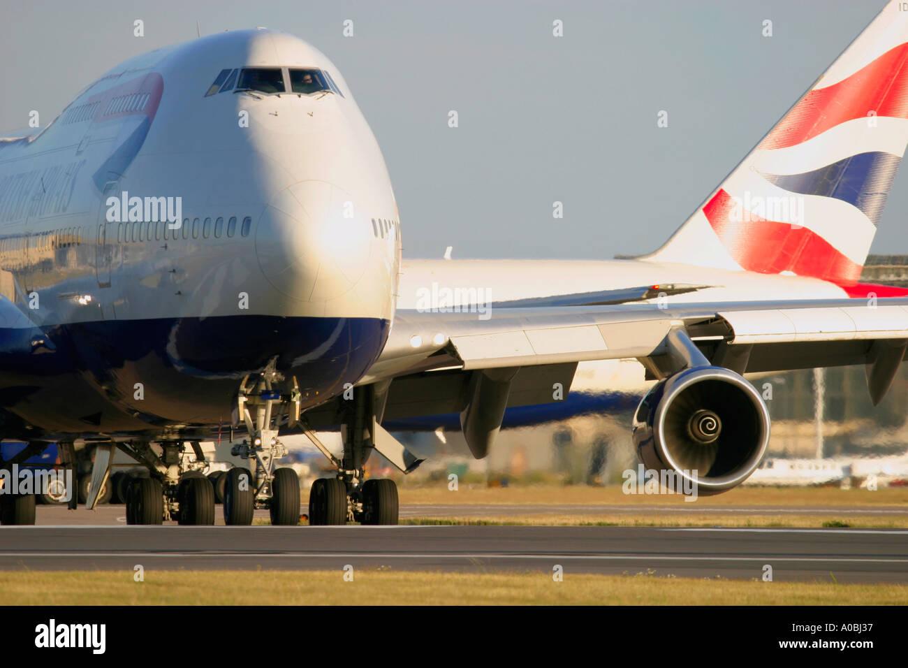 Boeing 747 British Airways - Stock Image