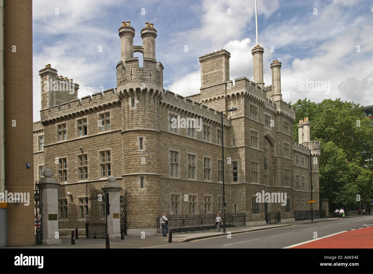 HAC Finsbury Barracks home of The Honourable Artillery Company in City of London GB UK - Stock Image