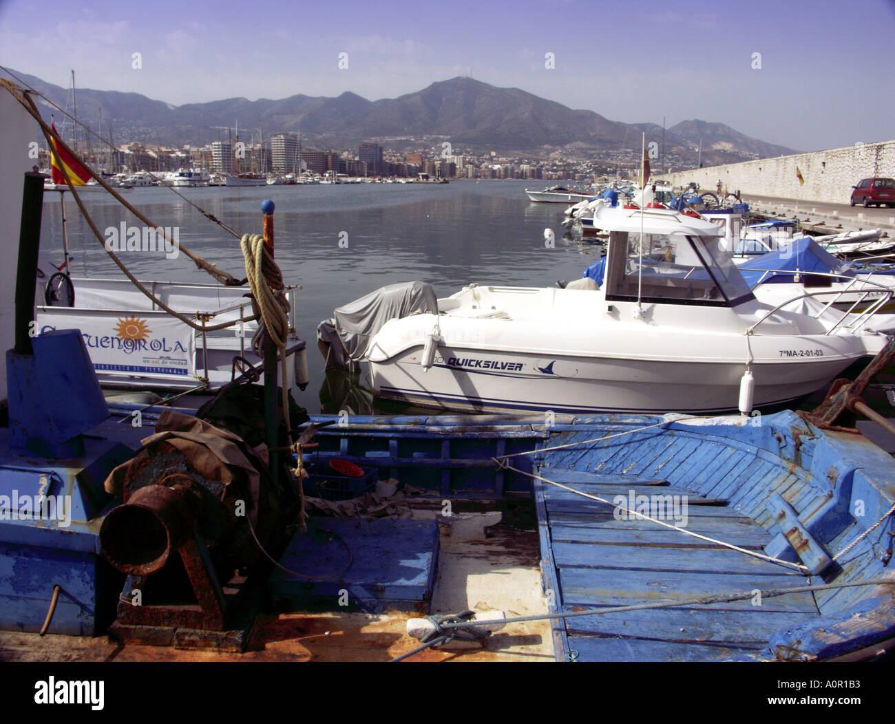 Commercial Fishing Boats, Puerto Deportivo de Fuengirola, Fuengirola Port, Costa del Sol, Spain, Europe - Stock Image