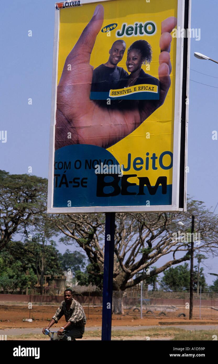 Mozambique Condom advert - Stock Image