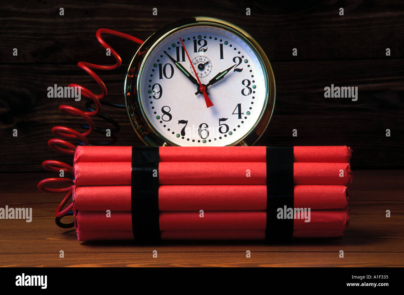 Time bomb simulation - Stock Image