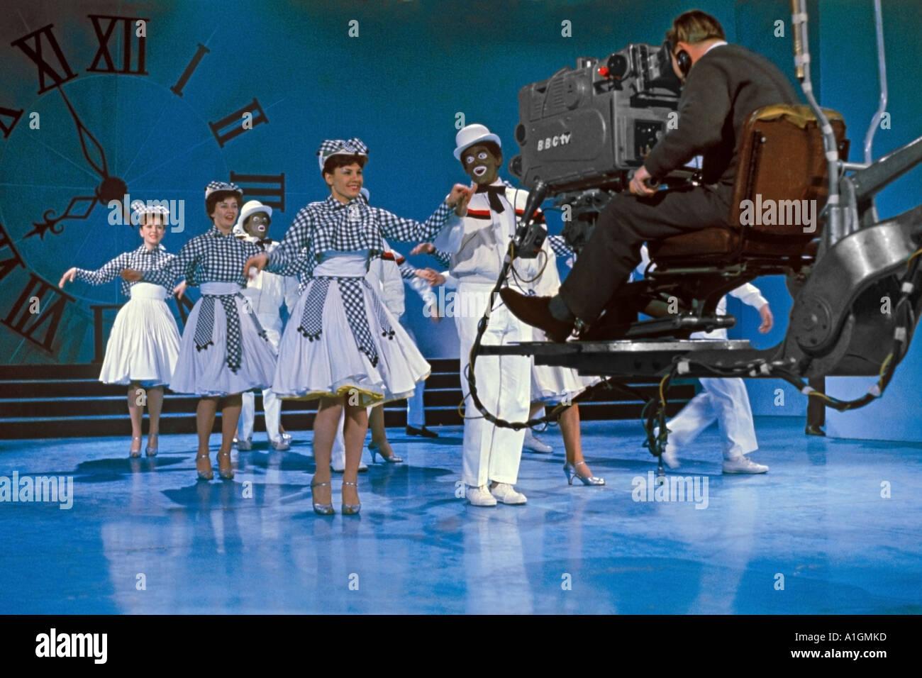 The Black and White Minstrel Show BBC Television Theatre Shepherds Bush London W12 November 1962. Jackie Joyner - Stock Image