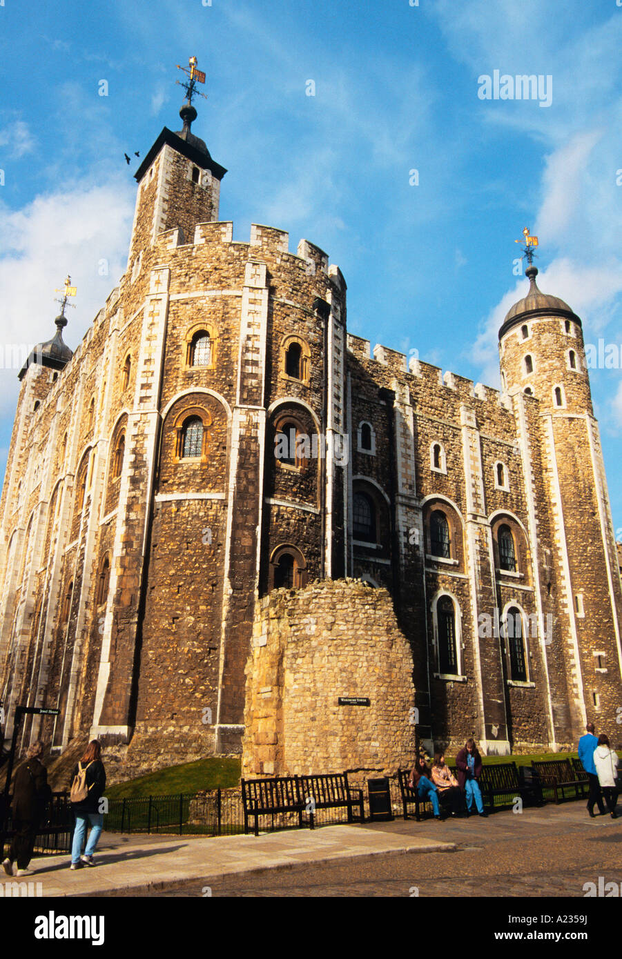 UK London England United Kingdom The Tower of London Building Historic Fortress Fortification and Prison Europe - Stock Image