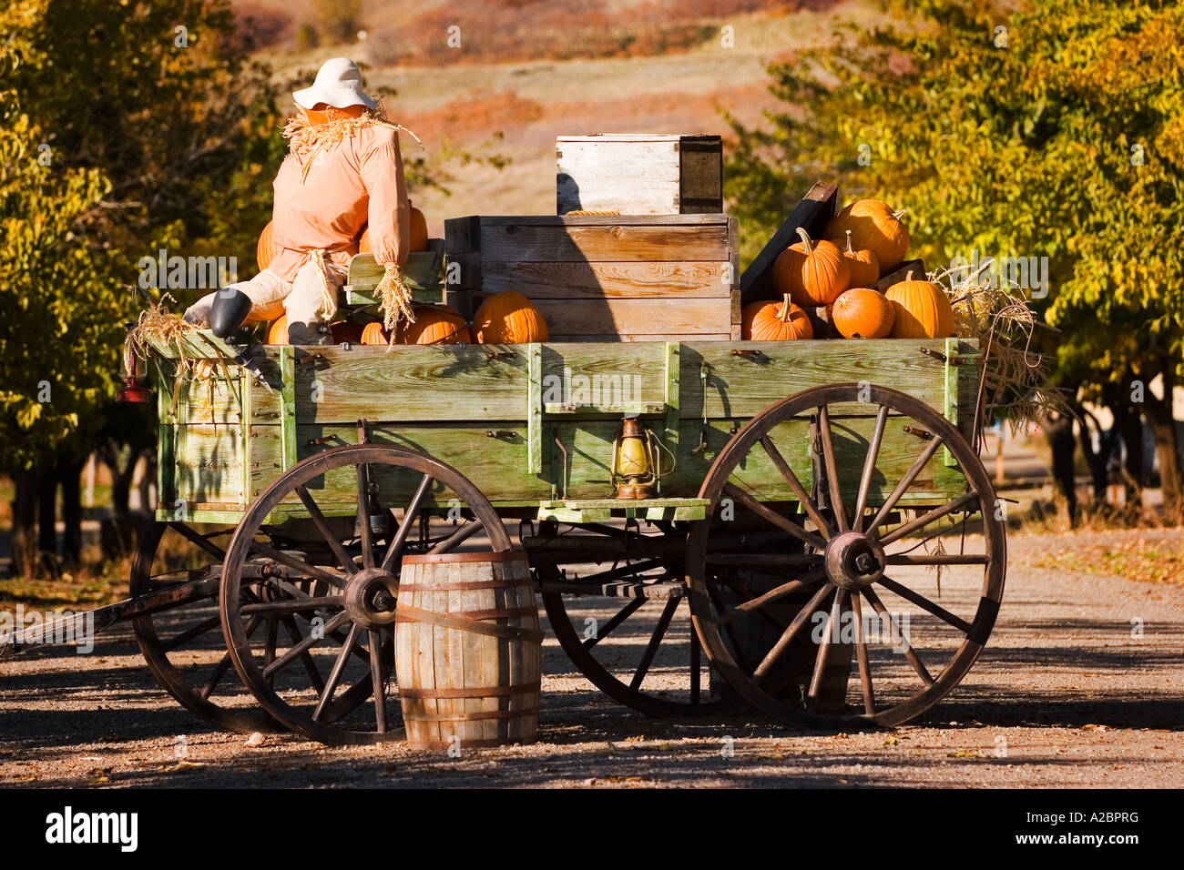 Antique Farm Wagon In Old Deseret Village In Salt Lake City
