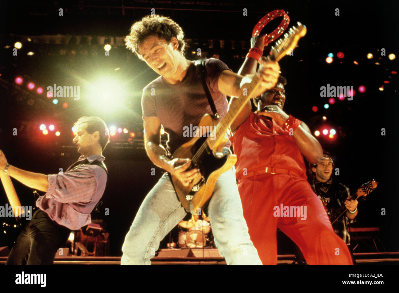 BRUCE SPRINGSTEEN US musician here in October 1985 Stock Photo