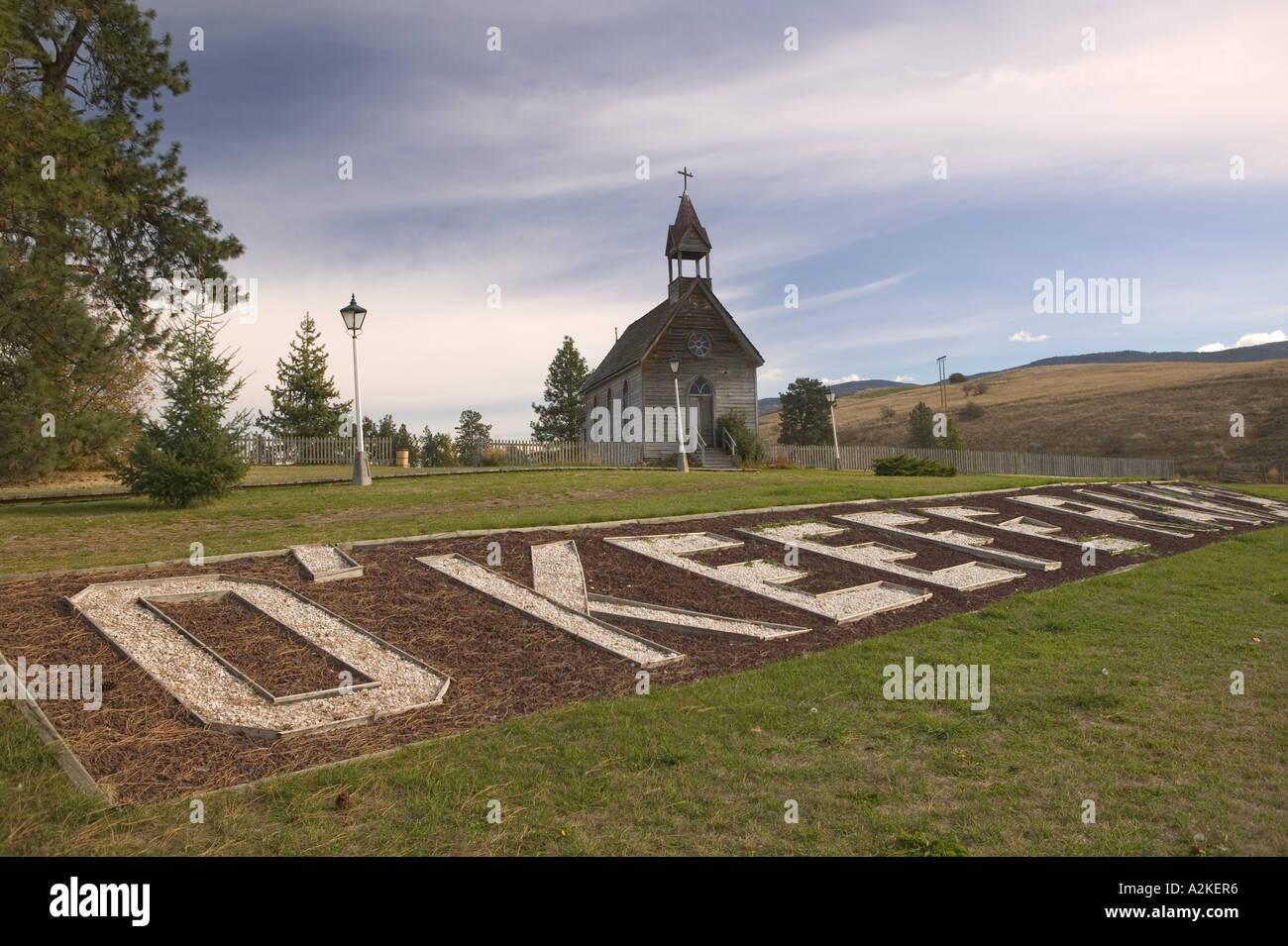 CANADA, British Columbia, VernonO'Keefe Historic Ranch Museum BC Ranch / 1867, 1977 - Stock Image