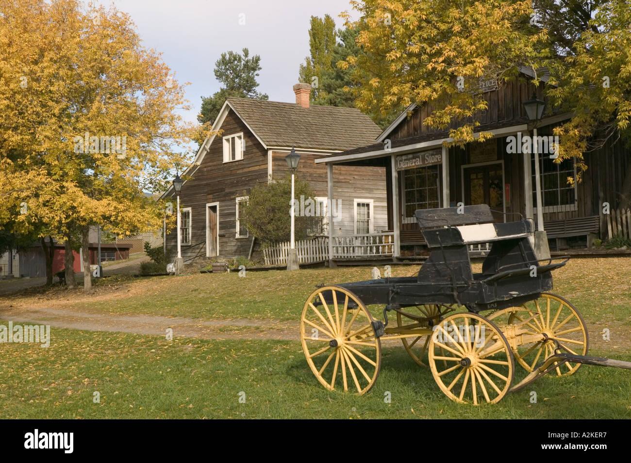 CANADA, British Columbia, VernonO'Keefe Historic Ranch Museum, BC Ranch / 1867, 1977 - Stock Image