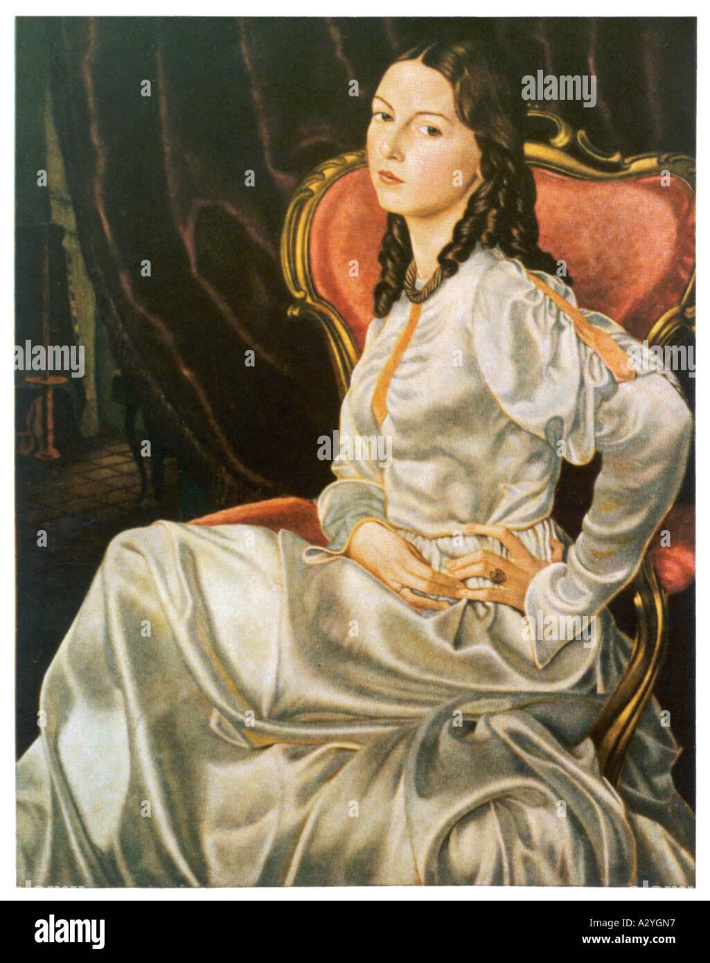 German Woman 1860 Stock Photo