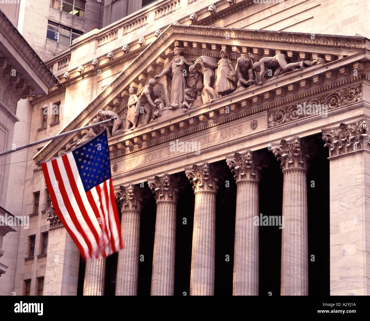 New York Stock Exchange, Wall Street, New York, USA - Stock Image