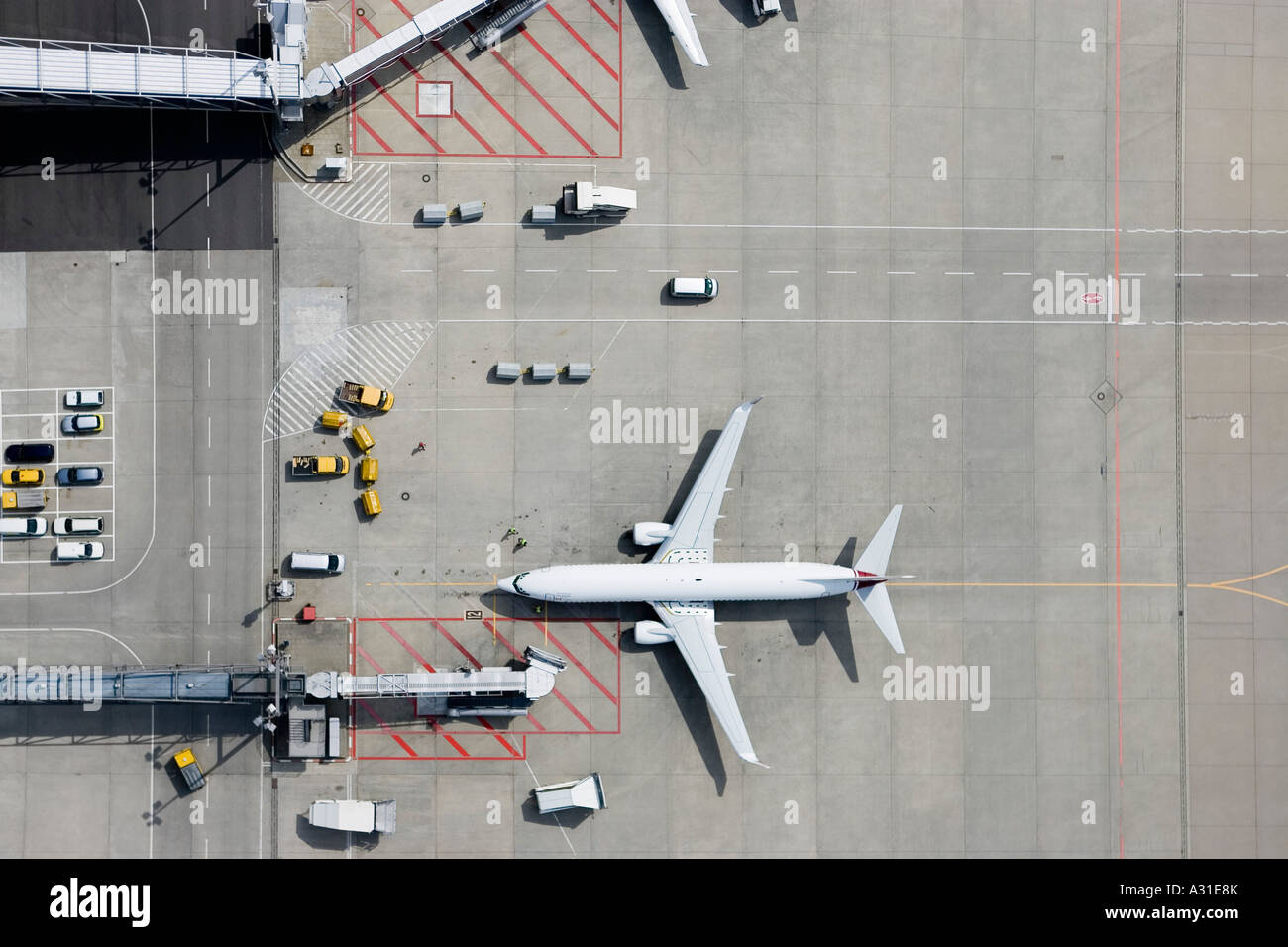 Aerial view of airplane - Stock Image