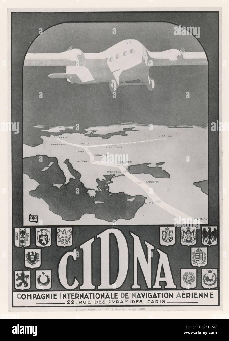 Advert Cinda Airline - Stock Image