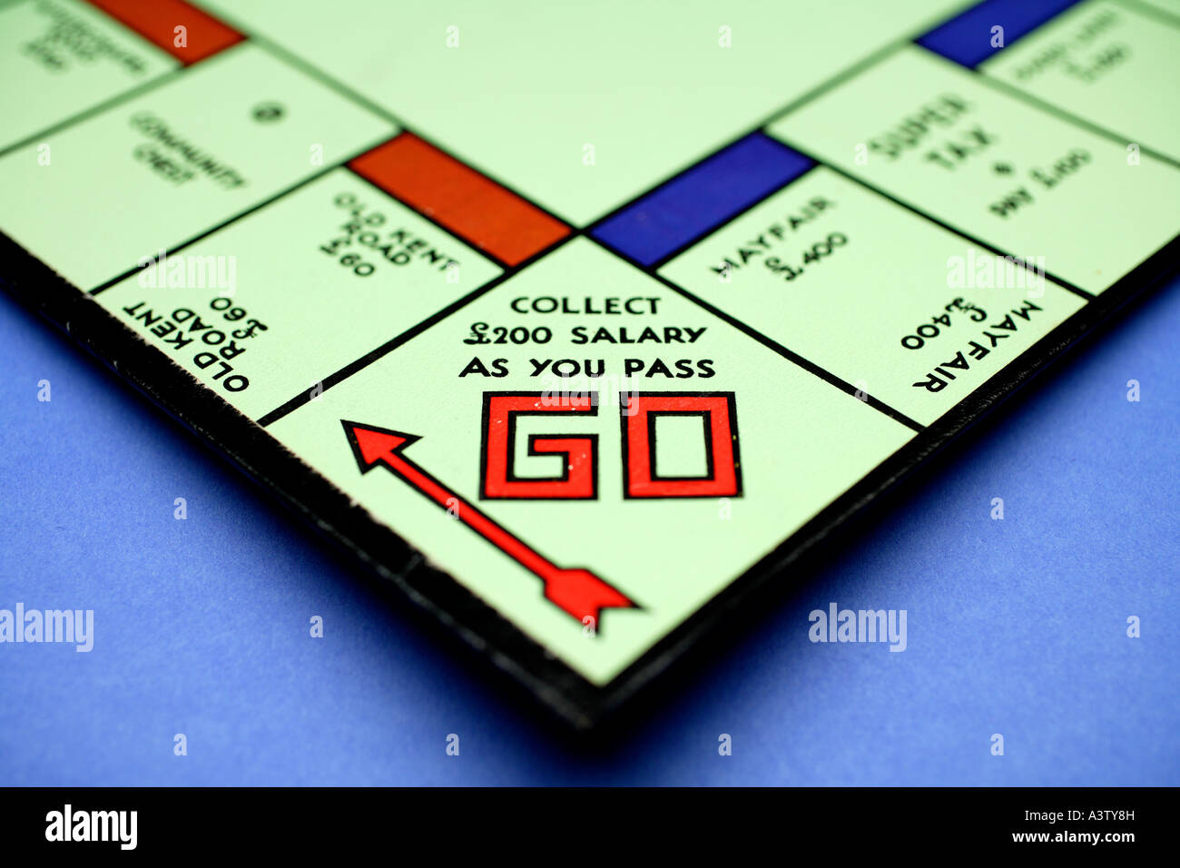 Monopoly Board Game, close up Stock Photo