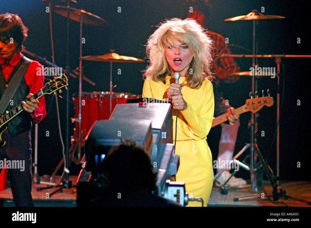 Debbie Harry of pop group Blondie performing Picture This PER0120 - Stock Image
