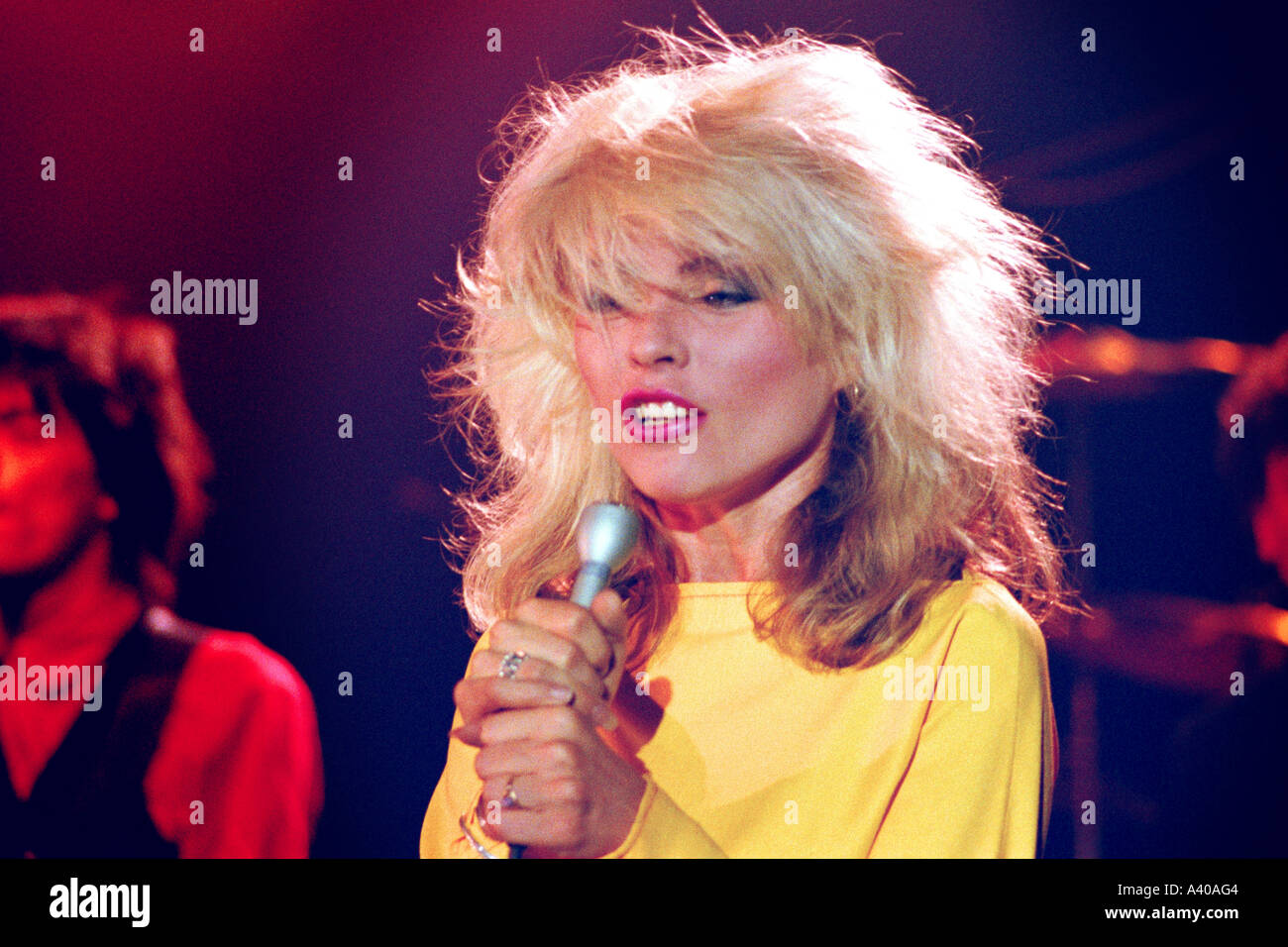 Debbie Harry of pop group Blondie performing Picture This PER0122 - Stock Image