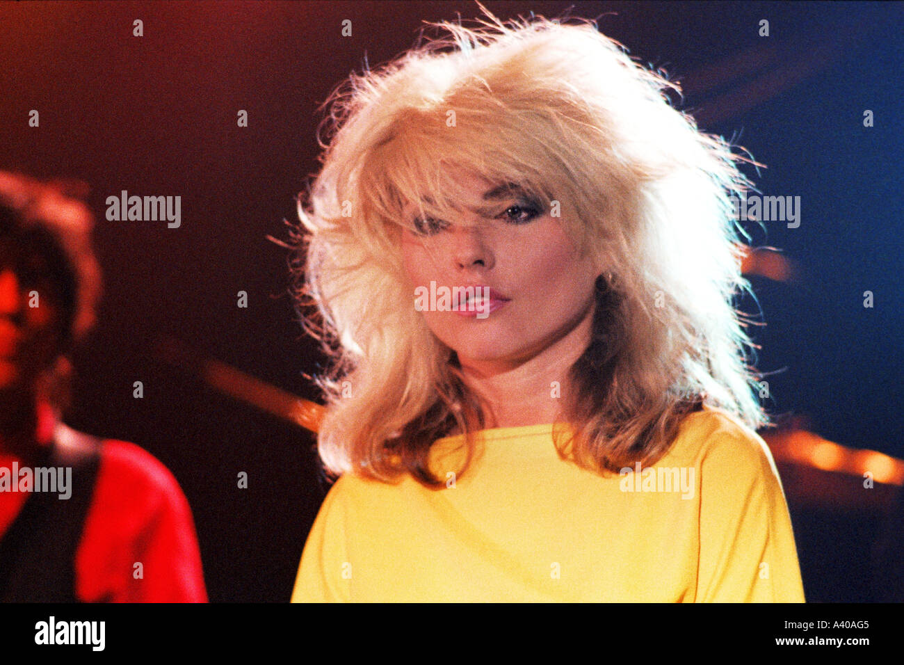 Debbie Harry of pop group Blondie performing Picture This PER0123 - Stock Image