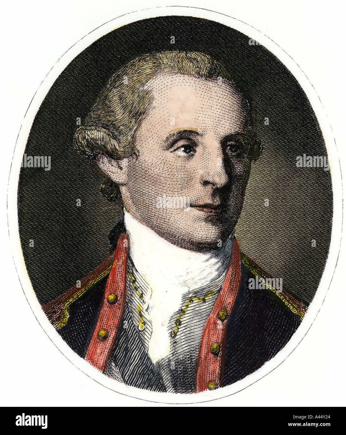 George Washington at age 25 - Stock Image