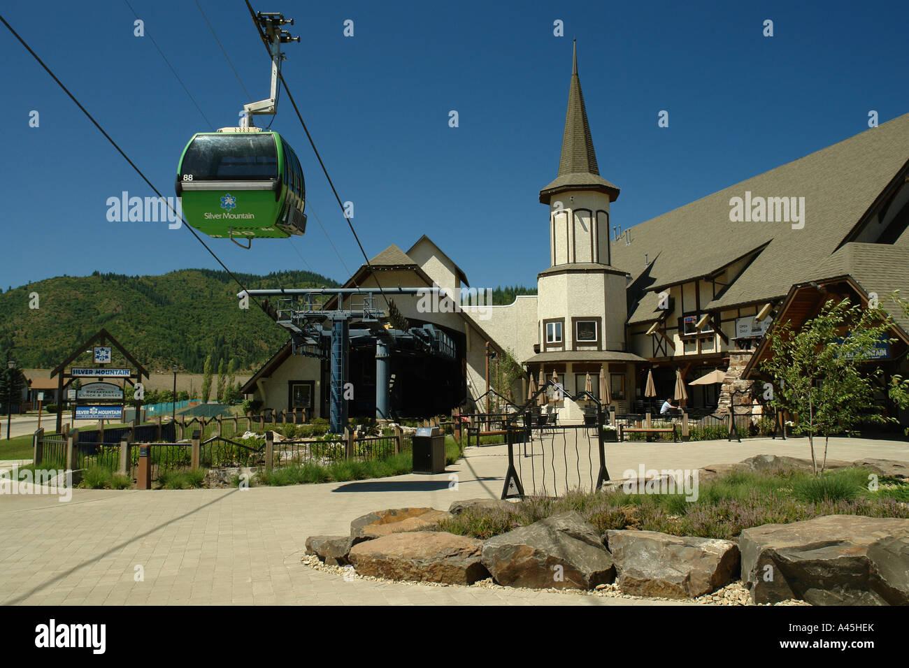 ajd56282, kellogg, id, idaho, silver mountain resort, gondola stock