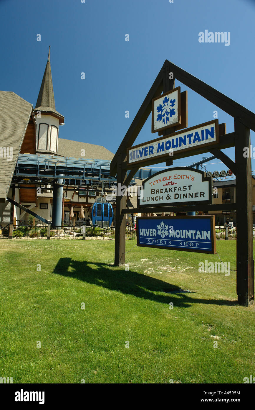 ajd56262, kellogg, id, idaho, silver mountain resort, gondola stock